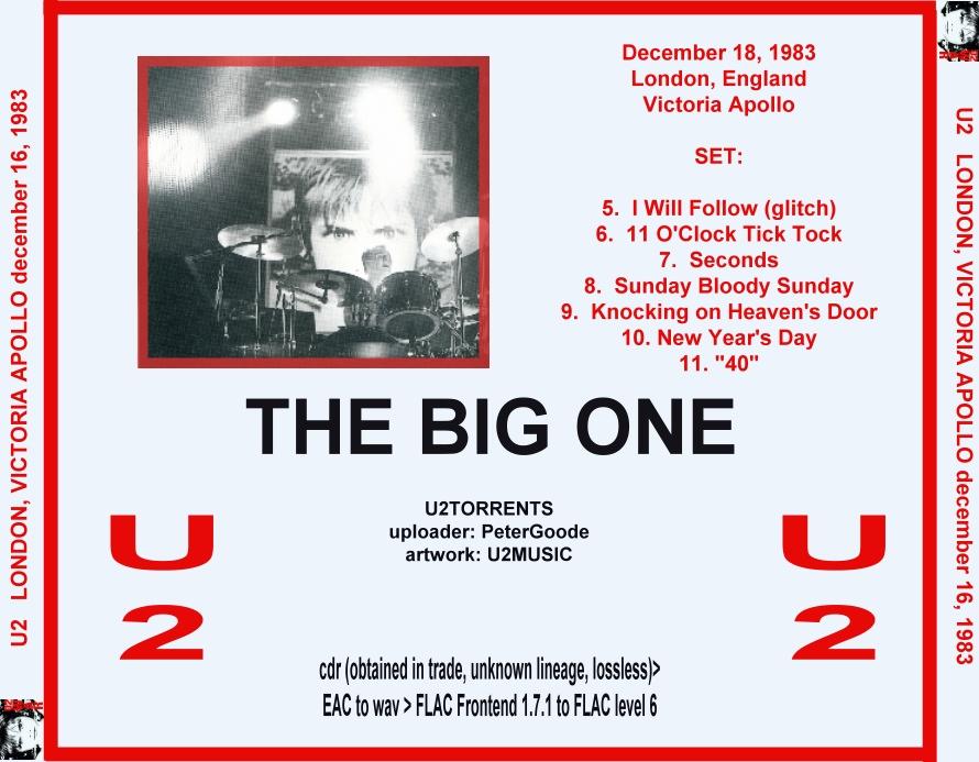 U2gigs com cover » Audio » 1982-1984 - War Tour » 06 - 1983