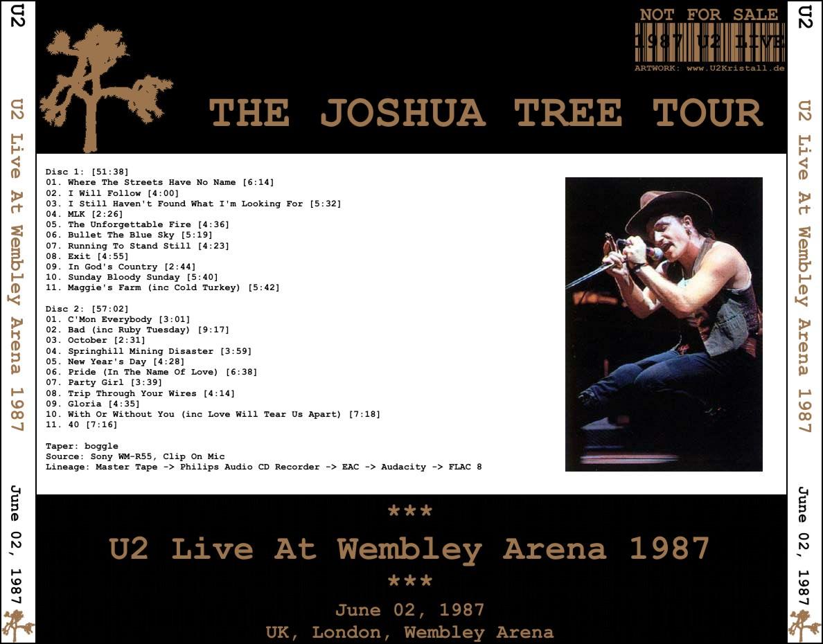 U2gigs com cover » Audio » 1987 - The Joshua Tree Tour » 03