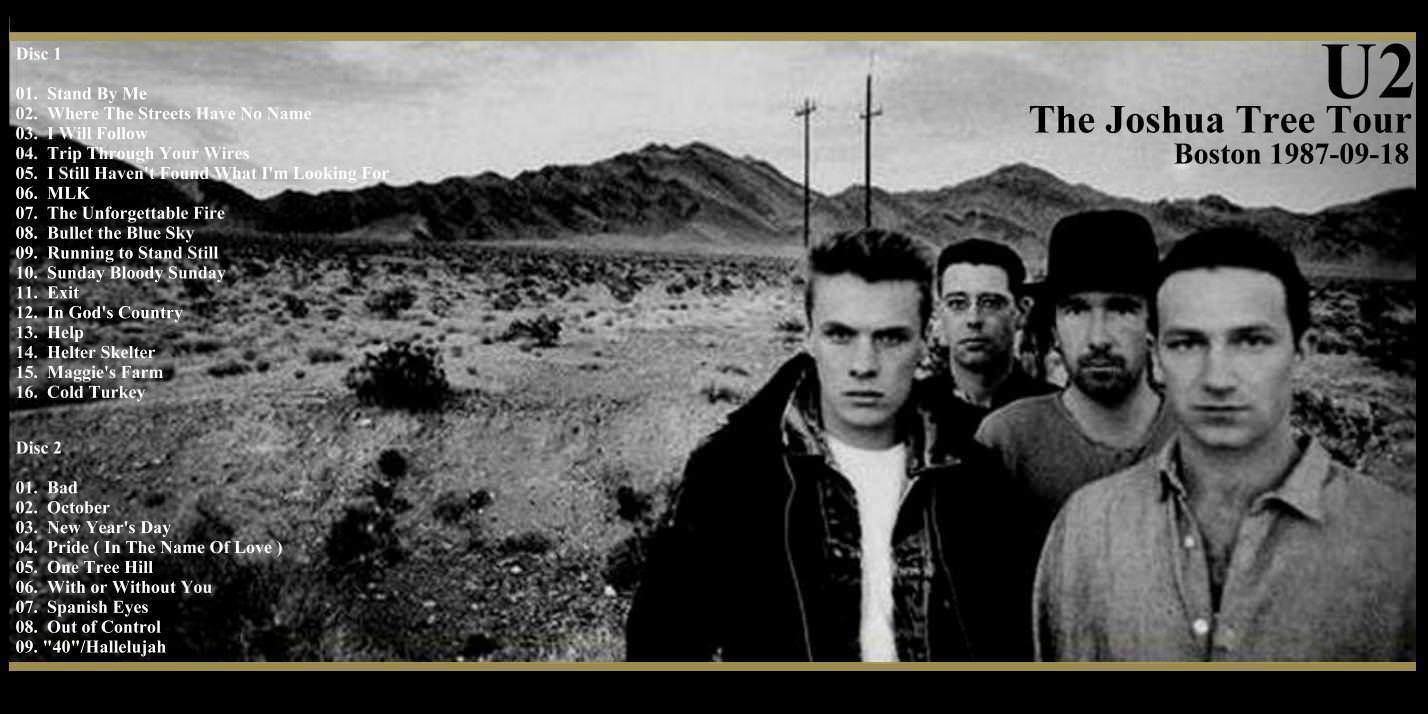 U2gigs.com cover » Audio » 1987 - The Joshua Tree Tour » 04 - 1987 - 3rd  Leg - North America