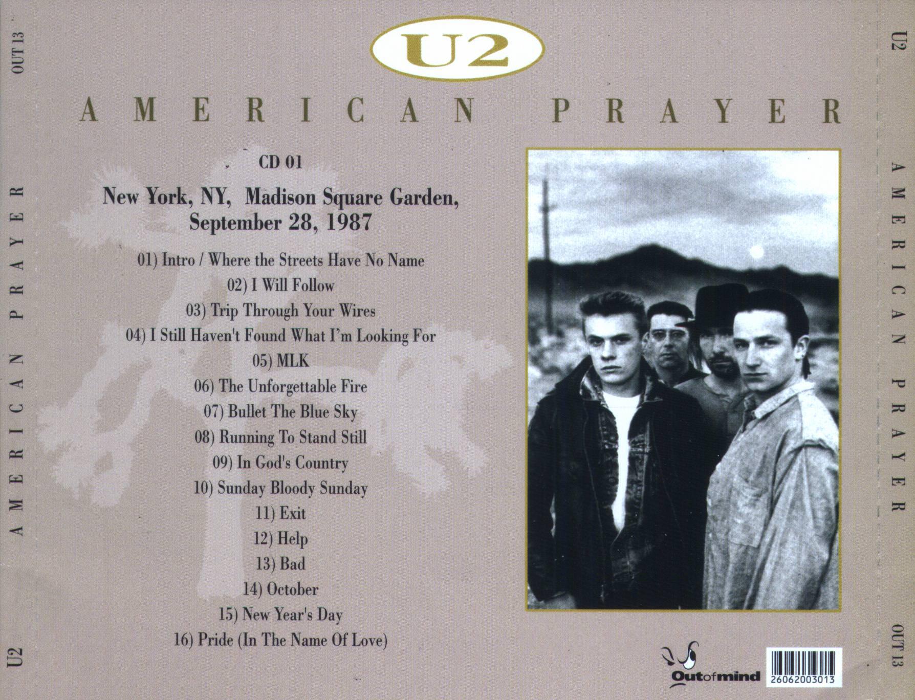 U2gigs.com cover » Audio » 1987 - The Joshua Tree Tour » 04 - 1987 ...
