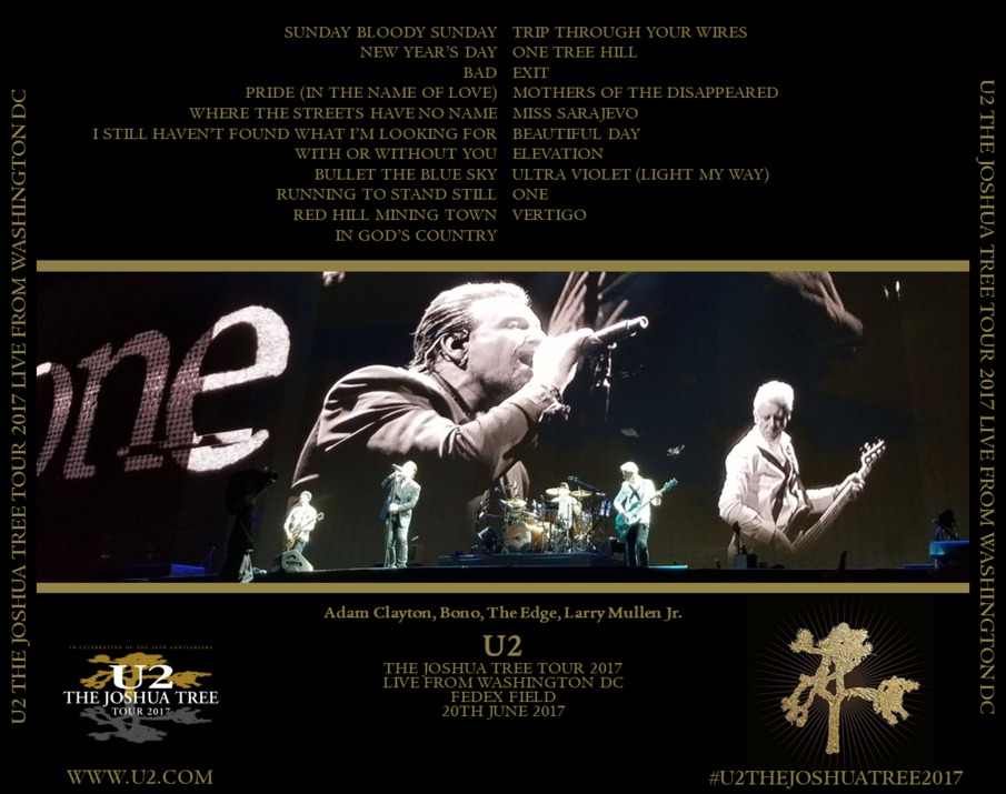 U2gigs com cover » Audio » 2017 - Joshua Tree Tour 2017 » 02