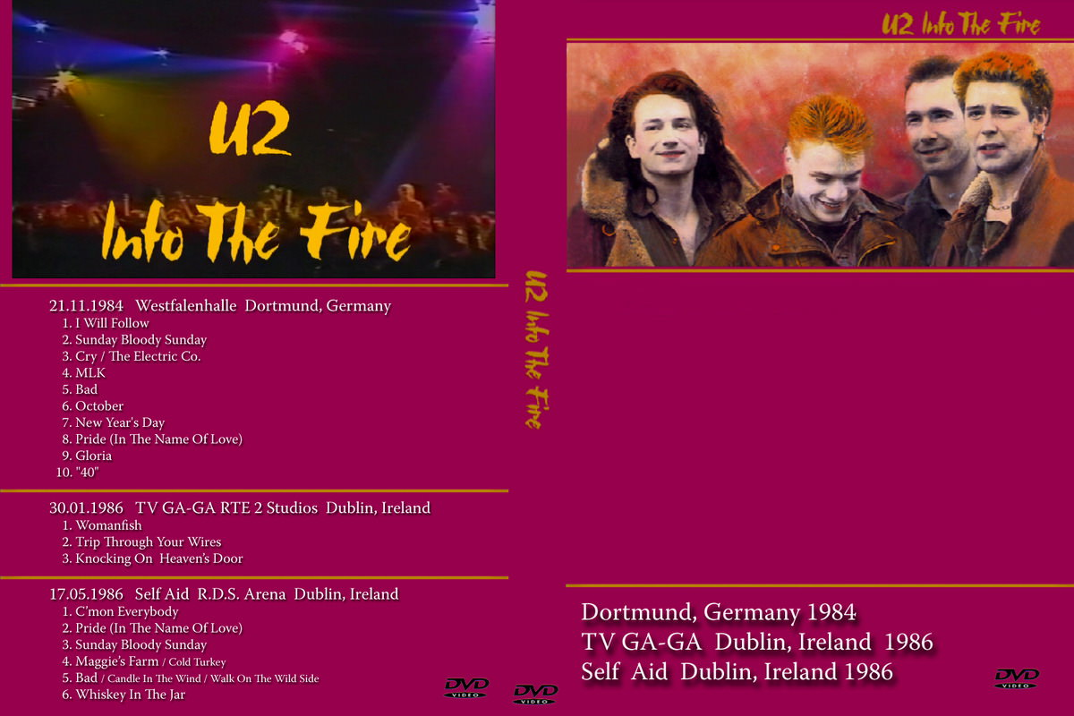 U2gigs com cover » Video » DVD » 1984-1985 - The Unforgettable Fire