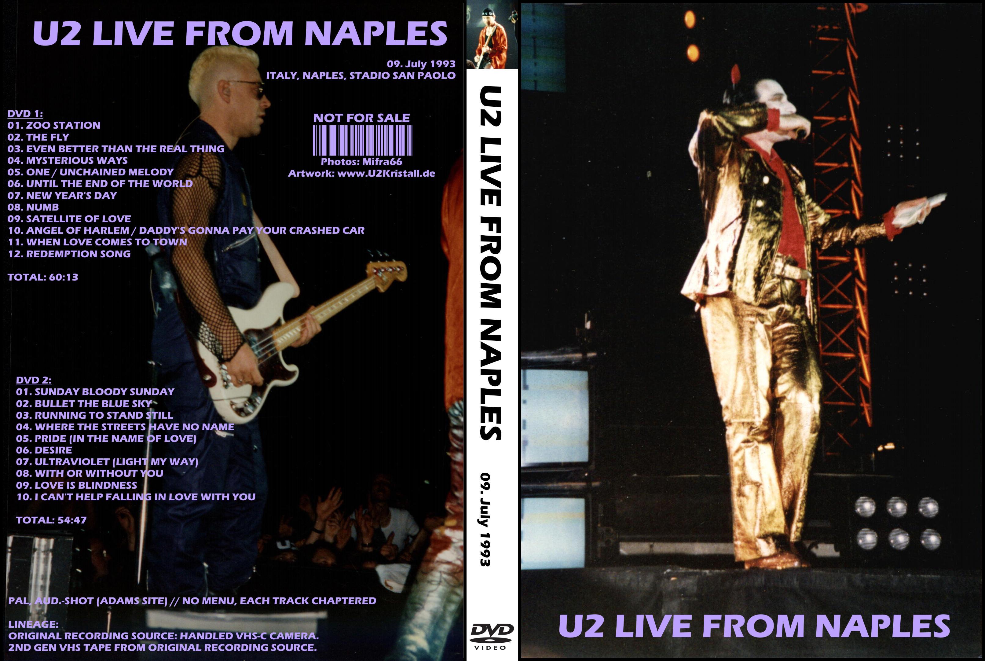 U2gigs com cover » Video » DVD » 1991-1996 - Zoo TV Tour
